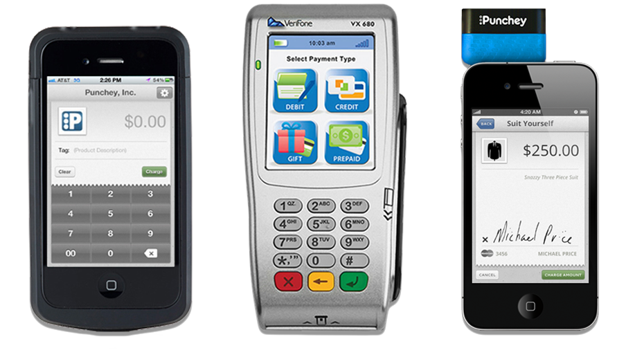 Linea Pro, Verifone and iDTech Shuttle devices