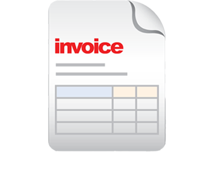 illustrated electronic invoice