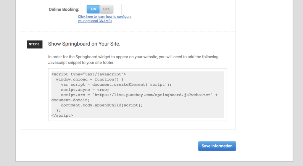 How to Add Spring Board Widgets to your Website - Punchey